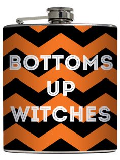"""Bottom Up Witches"" Flask by Liquid Courage"