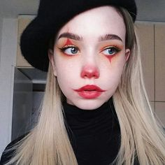 Makeup Inspo, Makeup Art, Makeup Inspiration, Eye Makeup, Makeup Ideas, Clown Makeup, Makeup Tricks, Prom Makeup, Makeup Guide
