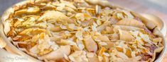 Hruškový koláč zmandlového těsta
