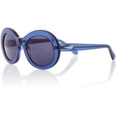 Prism San Francisco Transparent Oval Sunglasses ($315) ❤ liked on Polyvore featuring accessories, eyewear, sunglasses, dark blue, acetate glasses, acetate sunglasses, lens glasses, prism eyewear and oval glasses