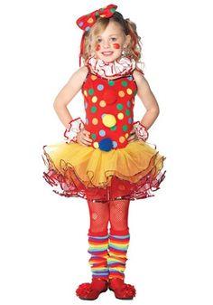 Child Tutu Circus Clown Costume - Girls Clown Halloween Costumes