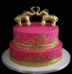 Butterfly Bakeshop Elephant Wedding Cake width=