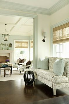 Wall color in one room as trim color in another-  It's Everything I Love...: Extra Pictures Of Our House Beautiful Cover House