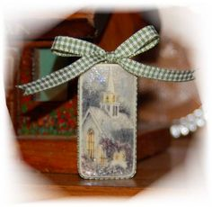 Thomas Kinkade Domino Ornament by shelley ginger - Cards and Paper Crafts at Splitcoaststampers