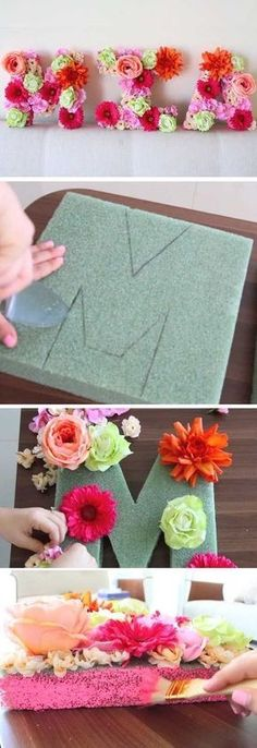 Eclectic decor flower letters DIY Baby Shower Decor Ideas For A Girl From Lu . - Eclectic decor flower letters DIY Baby Shower Decor Ideas For A Girl By Luz - Flower Letters, Diy Letters, Foam Letters, Wooden Letters, Photo Letters, Kids Crafts, Diy And Crafts, Baby Crafts, Decor Crafts