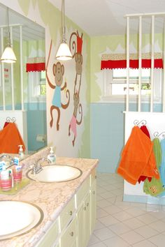 9 best kids bathroom images monkey bathroom kid bathrooms rh pinterest com