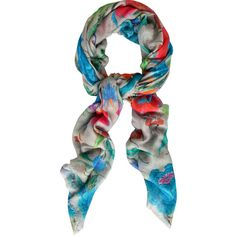 Temperley London Lotus Flower Print Scarf ($440) ❤ liked on Polyvore