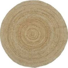 Round Jute Rug, 6', Natural for under kitchen table
