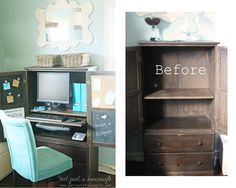 How to turn a regular armoire into a computer cabinet! #DIY