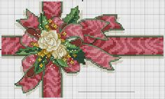 Cross-stitch Ribbon for a Package ... no color chart available, just use the pattern chart as your color guide.. or choose your own colors...   motivo