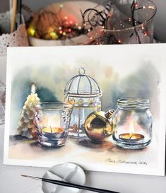 "6,044 Likes, 15 Comments - Watercolor illustrations  (@watercolor.illustrations) on Instagram: "" Watercolorist: @maria.mishkareva #waterblog #акварель #aquarelle #drawing #art #artist #artwork…"""