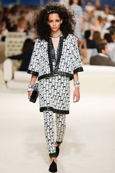 Chanel | Cruise/Resort 2015 Collection via Karl Lagerfeld | Modeled by Binx Walton | May 13, 2014; Dubai | Style.com