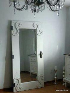 Love old doors!  Great idea