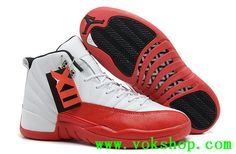 2014 cheap air jordan 12 mens basketball shoes White and red good quality  for sale  58.99 9c48a2da5