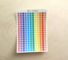 Bright colored tiny square planner stickers 216 by TapiosDaughter