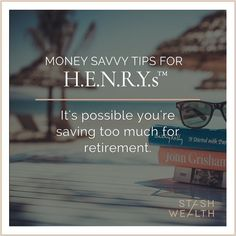 "A lot of our clients are putting away 7% when they really only need to do 5%.  We really feel it's ""wise to optimize"" all areas of your finances to get the most out of this life.  Click the email link in our bio and let's chat.  #retirementgoals #retirementplan #stashwealth"