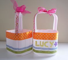 Try this recycled milk jug Easter basket project by TrashN2Tees.