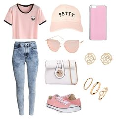 """hipster please"" by treblemakeramber on Polyvore featuring H&M, Chicnova Fashion, Converse, Miss Selfridge, Charlotte Russe, Summer, outfit, Hipster, Pink and Alien"