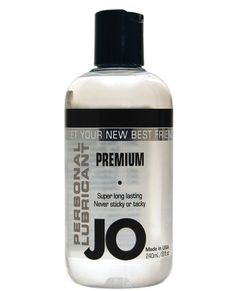 System Jo Personal Silicone Lubricant - Meet Jo - the personal lubricant you need for the most sexual satisfaction. This long lasting, fragrance free, latex safe, Vitamin E, Silicone-based lube provides a silky, wet feeling without any stickiness. Enhance your pleasure every time you play with Jo. Bottle includes 8 oz. of personal lubricant.