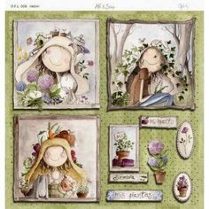 y Ofelia!and Ofelia! Cute Crafts, Felt Crafts, Paper Crafts, Anni Downs, Mod Podge Crafts, Cool Stickers, Penny Black, Digital Stamps, Paper Background