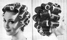 Hair rollers were a must-have for mum too in the 70s, when she gave up her time-consuming knot for a more practical short curly hairstyle. Did your mum used them too?!