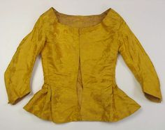 Jacket Date: 1770s Culture: British Medium: silk Accession Number: 2010.342