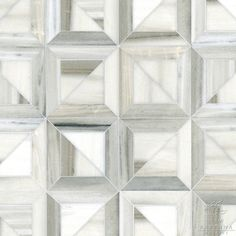 "Name: Newman Style: Contemporary Product Number: CB1218NEWMAN (19""x19"") Description:Newman, a stone waterjet mosaic shown ..."