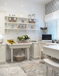 White workroom.