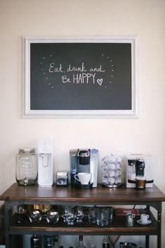 #chalkboard, #kitchen  Photography: Britta Hundertmark - brittamariephotography.com  Read More: http://www.stylemepretty.com/living/2013/09/30/a-cozy-loft-tour/