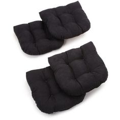 Blazing Needles Dining Chair Cushion Fabric: Saddle Brown