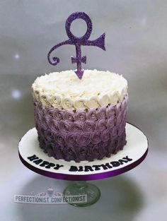 Deirdre - Purple Ombre / Prince Birthday Cake