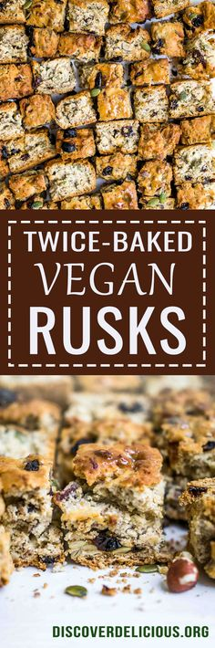 Vegan Rusks | Discover Delicious | www.discoverdelicious.org | Vegan Food Blog