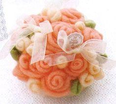 My Best Wishes. Needle Felt Wool Wedding Flower Bouquet - Japanese DIY craft kit. $35.00, via Etsy.