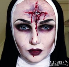 #nun #makeup #costume #halloweenmarket #halloween  #костюм #монашка #образ #страх Страшная монашка на хэллоуин (фото)