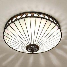 Interiors 1900 FARGO Tiffany Art Deco style flush ceiling light  £206.40 (FREE UK Delivery)