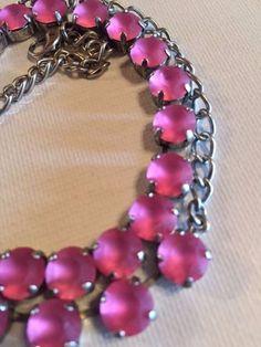 ebay: Made With SWAROVSKI CRYSTAL CHOKER / NECKLACE - Silver Jewelry -  Pink Frost #Swarovski #likeSabika