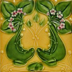 Alfred Meakin c1905 - RS0524 - Art Nouveau Tiles
