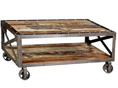 What's better than a Reclaimed Wood and Iron Coffee Table? One on wheels. These are popular at MIX furniture, they're so versatile for indoors and out! blog.mixfurniture.com // mixfurniture.com