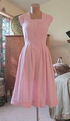 Vintage Day dresses. I would love a variety if colors for in this style to wear throughout  the summer:)