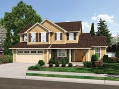 Welcoming 3 Bedroom Farmhouse Style Home. Farmhouse Home Plan # 161292.