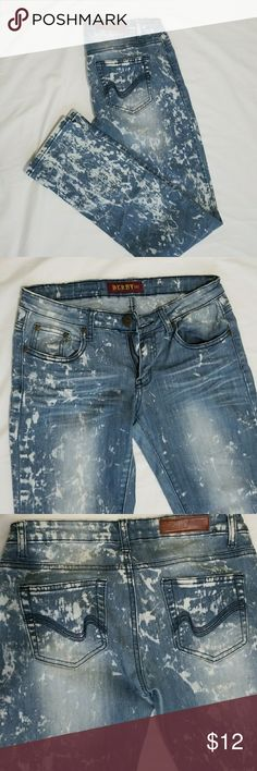 Derby 107 Denim Jeans Derby 107 womens jeans. Worn but in good condition. Bleached denim Derby 107 Jeans Straight Leg