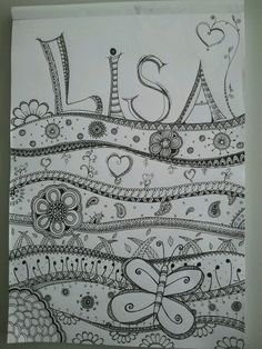 doodle art. do this with my name