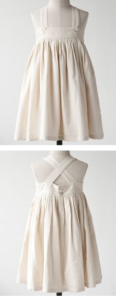 This looks like a muslin mock-up, but I would still put it on my girl.