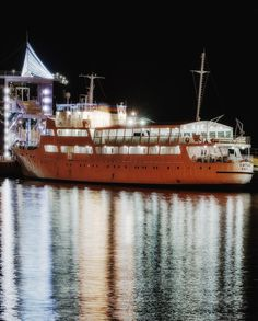 The ship. Baku Seaside boulevard.
