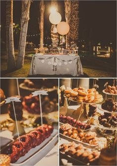 Wedding philippines 25 cool and fun donut bar buffet food ideas for - Industrial New York Wedding Wedding Donuts Cake Stands