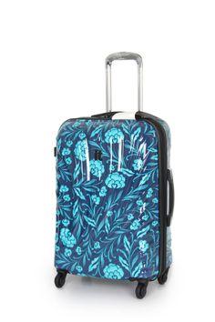 IT Luggage turkish tile floral print suitcase