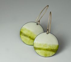 """Horizon Earrings""   Silver & Enamel Earrings  $ 85 I need these but damn the price."
