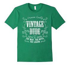 3bd90fc0f Men s 60th Birthday shirt Vintage dude 1956 Birthday gift... https