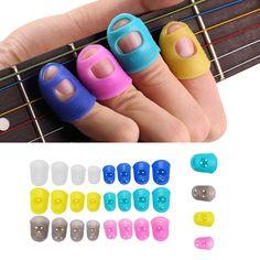 4Pcs/Set Guitar Fingertip Protectors Finger Guards For Guitar Ukulele Accessories