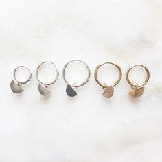 Scale charm earrings | Handmade | 14k gold filled & sterling silver